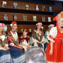 Noč knjigarn v Konzorciju in skupina Ritmi planeta z vonjem po Rusiji.